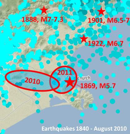 ChCh earthquakes 1840-2010