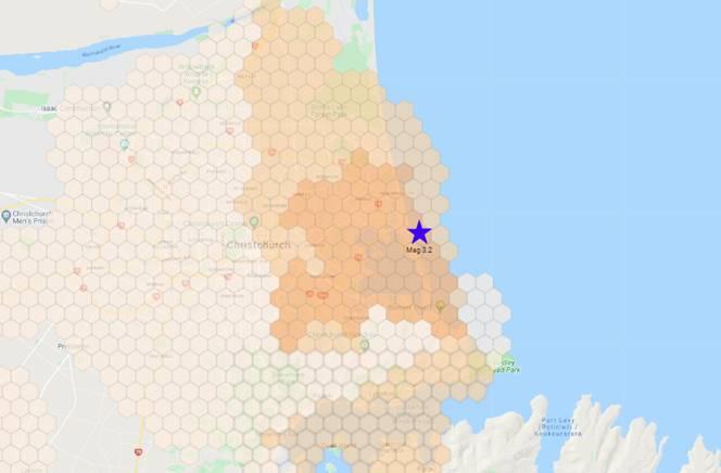 Sentinel Map - Christchurch Earthquake